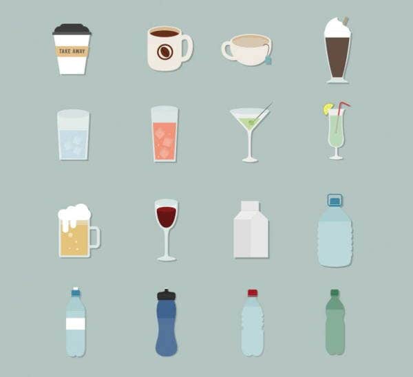 vector-beverage-icons