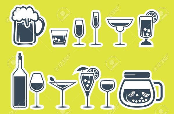 alcoholic-and-beverage-icons-set