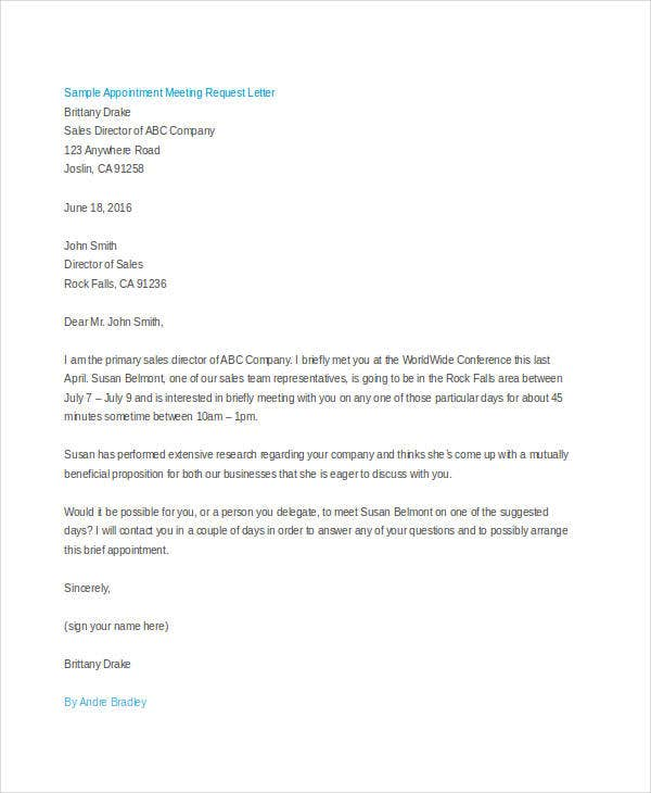 parent meeting letters sample letter requesting