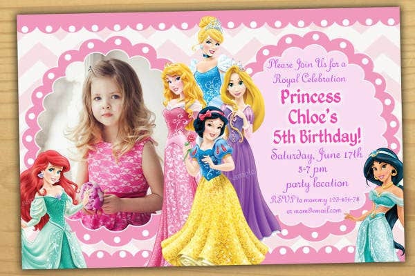 barbie 5th birthday invitation