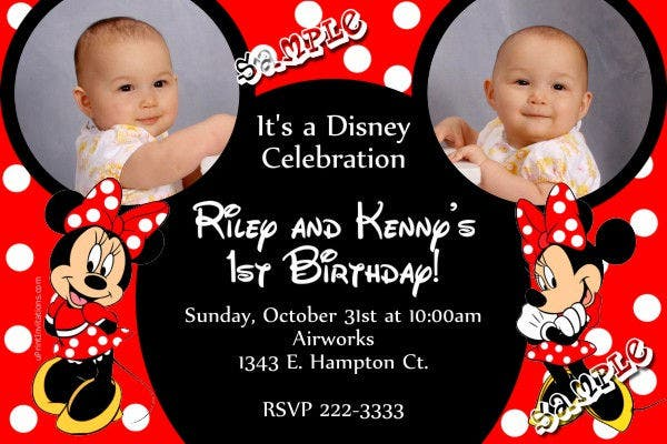 mickey and minnie mouse birthday invitation2