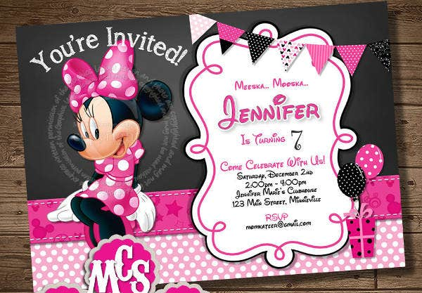 diy minnie mouse birthday invitation1