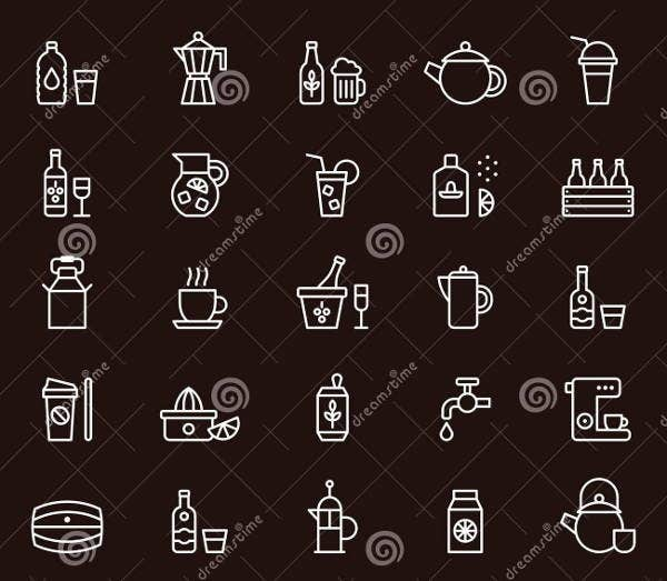 outline-beverage-icons