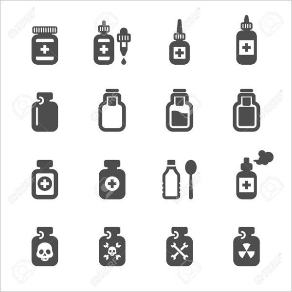 Pill Bottle Icons
