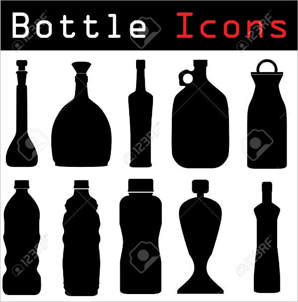 Vector Bottle Icons