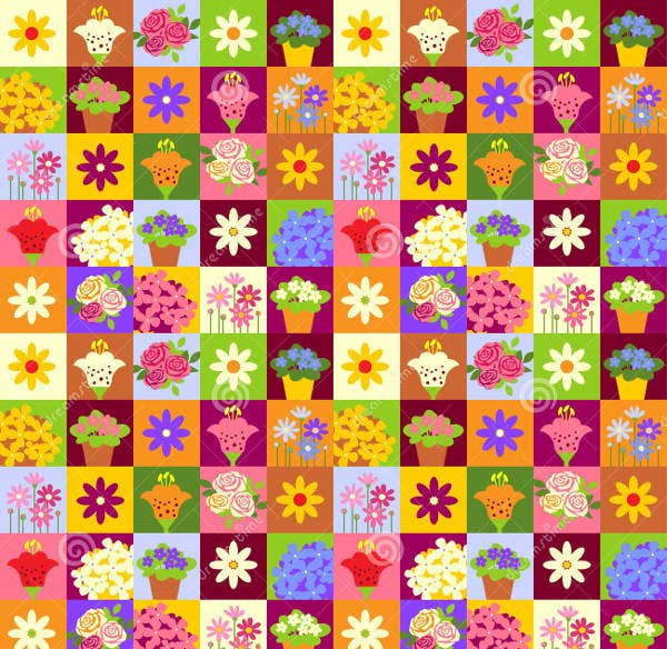 mosaic-flower-pattern