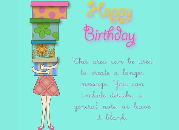 happy birthday invitation email