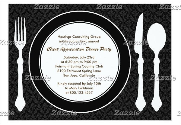 67  dinner invitation designs