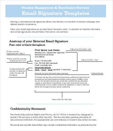Sample Business Email Signature Template