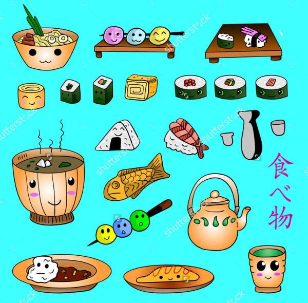 food-doodle-vector