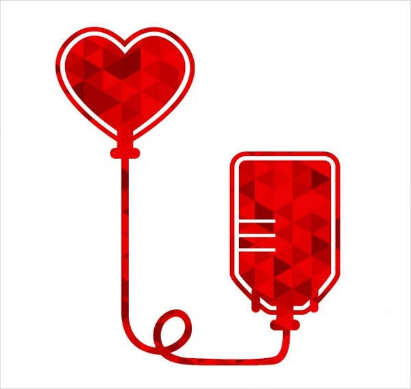 polygonal-blood-donation-icons