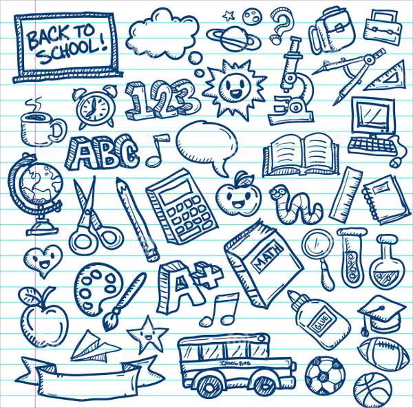 school-doodle-vector