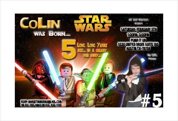 star wars birthday invitation card1