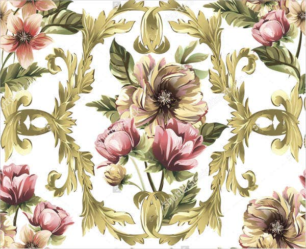abstract damask baroque pattern