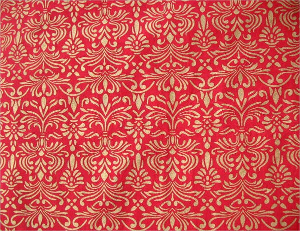 baroque pattern hand printed fabric