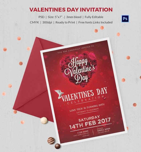 valentines day invitation 5 600