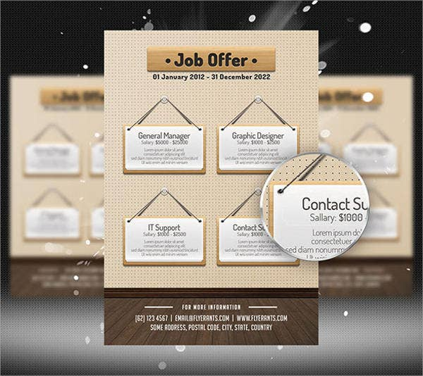 Job Offer Flyer