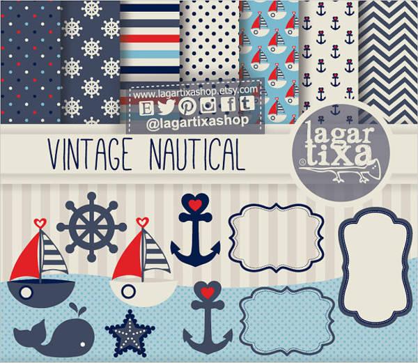 nautical vintage pattern