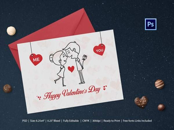 Elegant Valentines Day Greeting Card