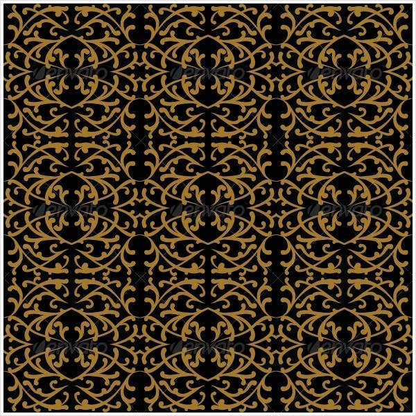 linear pattern in baroque and rococo style
