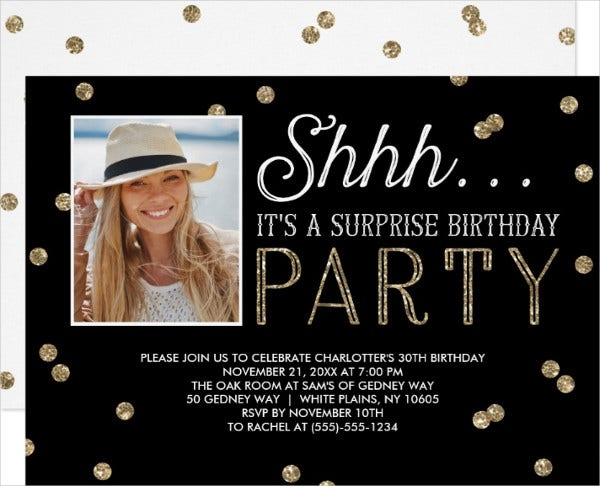 UPLOADING 1 / 1 – Surprise Birthday Party Invitation.jpg ATTACHMENT DETAILS Surprise Birthday Party Invitation