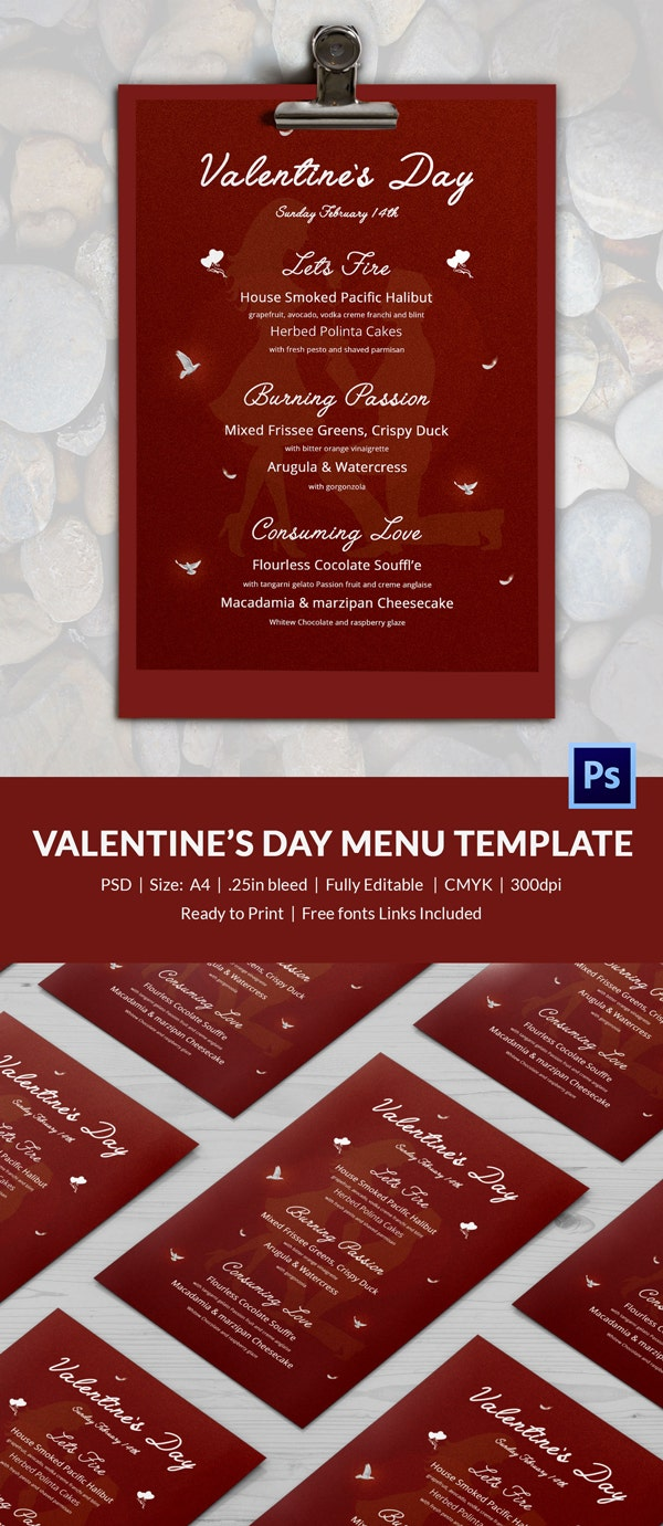 25 free valentine s day templates flyer invitations greeting