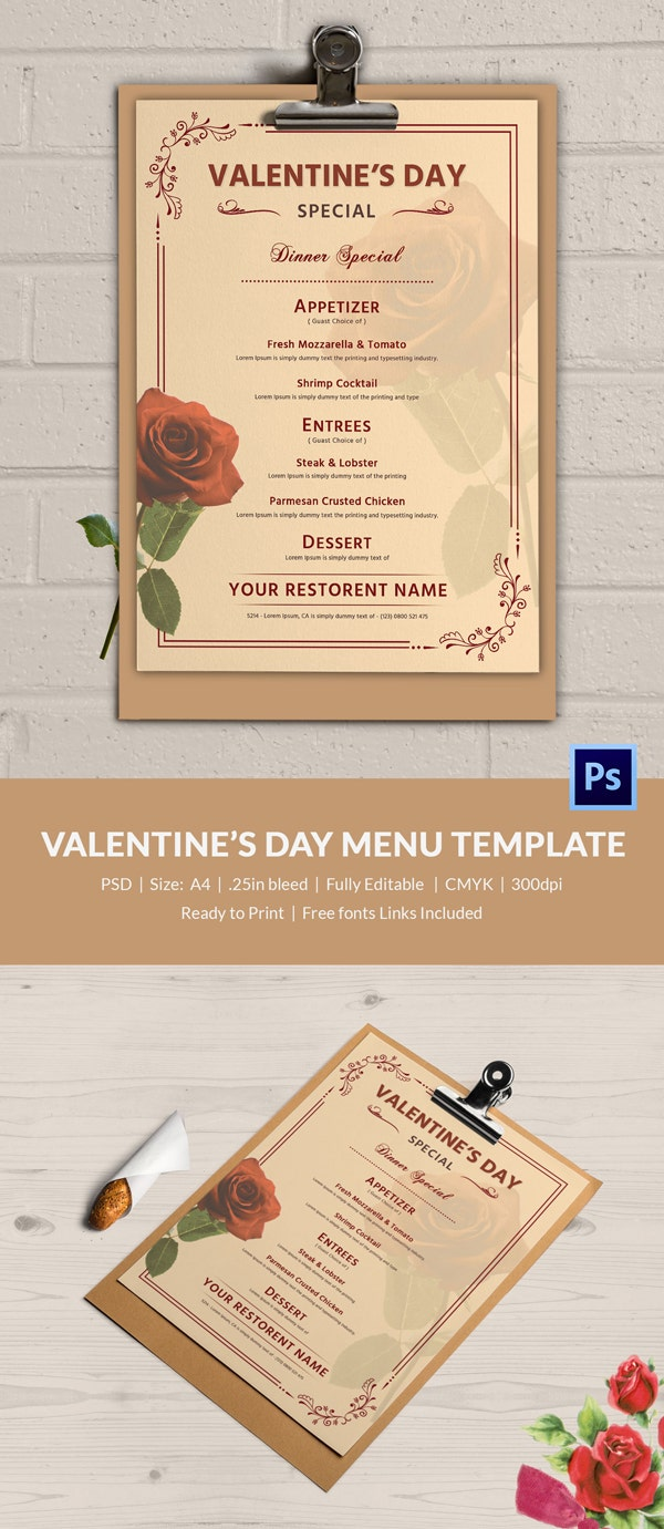 Valentines Day Poster Design