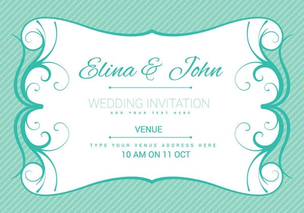 modern party invitation card design
