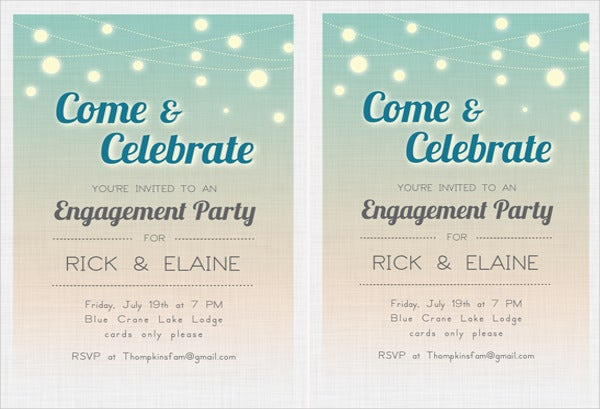 free engagement party invitation design