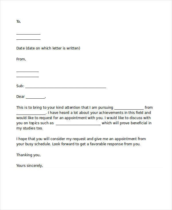 Appointment Letter Templates   Free Word Pdf Documents