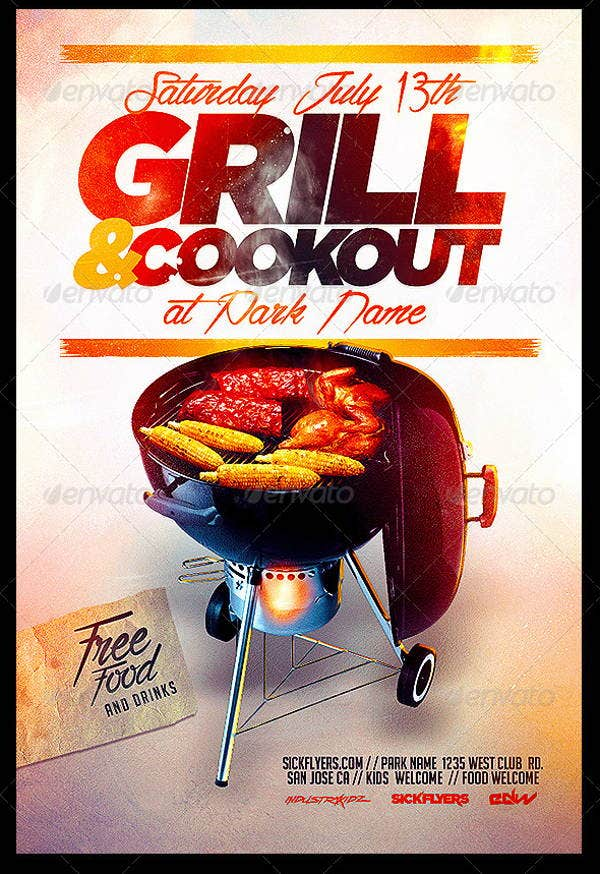 cookout-flyer-psd