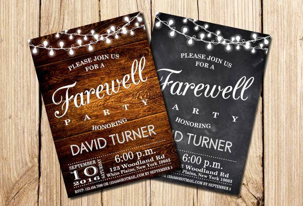 -Farewell Party Card Invitation