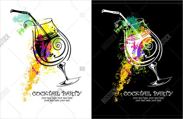 -Cocktail Party Invitation Card