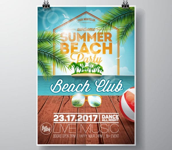 -Summer Beach Party Invitation