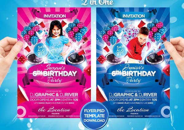 -Free Birthday Party Invitation