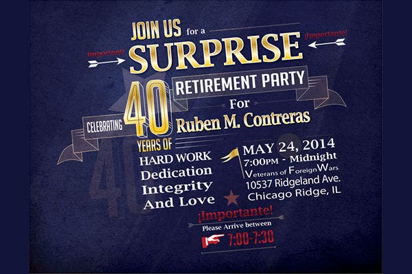 -Free Retirement Party Invitation