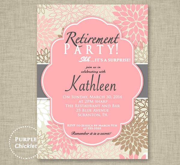 -Surprise Retirement Party Invitation