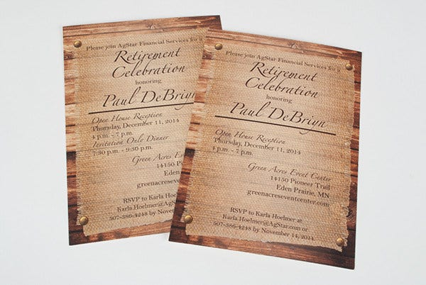 free retirement party invitation2