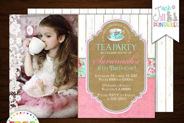 -Vintage Tea Party Invitation