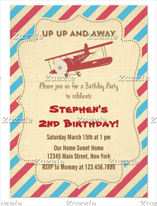 vintage birthday party invitation4