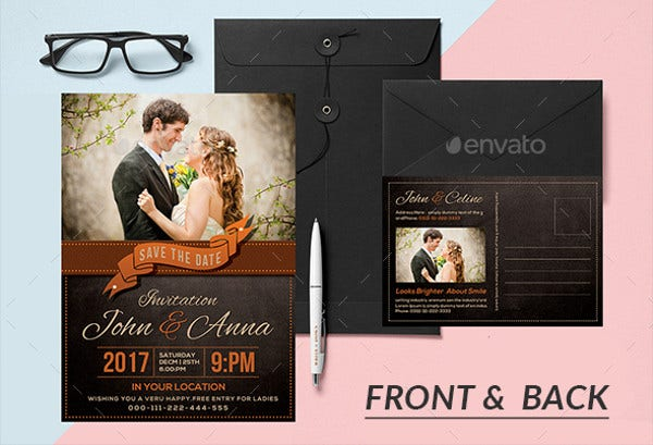 -Wedding Reception Party Invitation