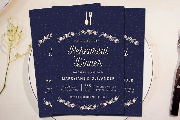 -Wedding Dinner Party Invitation