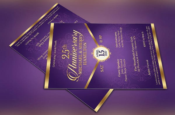 -Wedding Anniversary Party Invitation