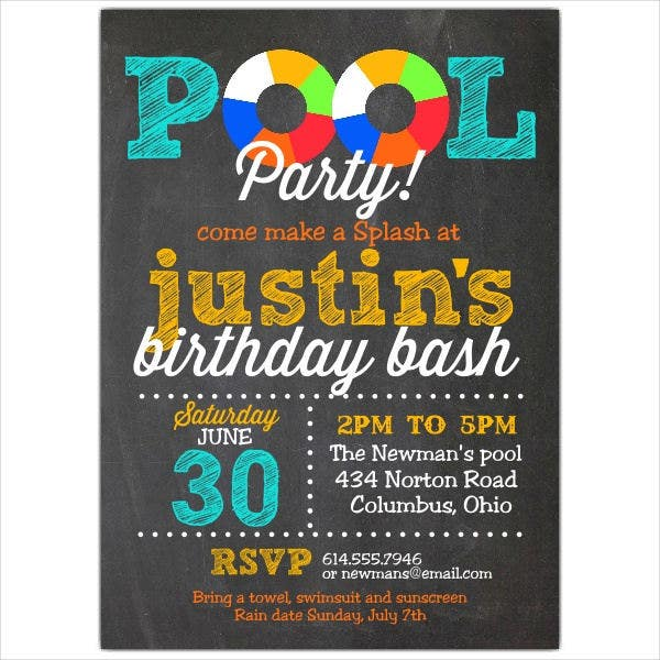 pool-debut-party-invitation