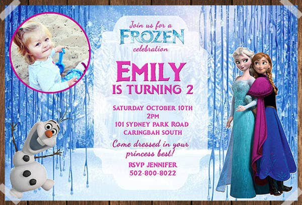 -Frozen Birthday Party Invitation