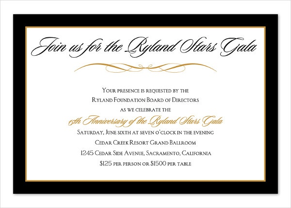Corporate Dinner Invitation Free Sample Example Format - Corporate party invitation template