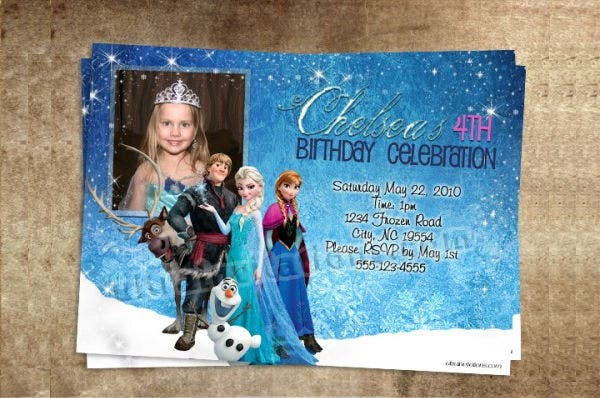 -Disney Frozen Party Invitation