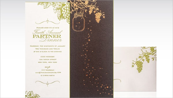 16  corporate dinner invitations
