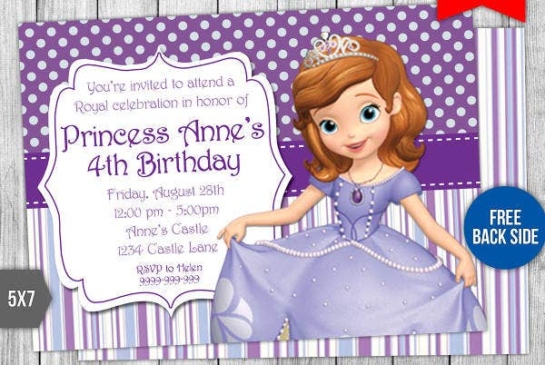 58 Sample Birthday Invitation Templates Psd Ai Word Free