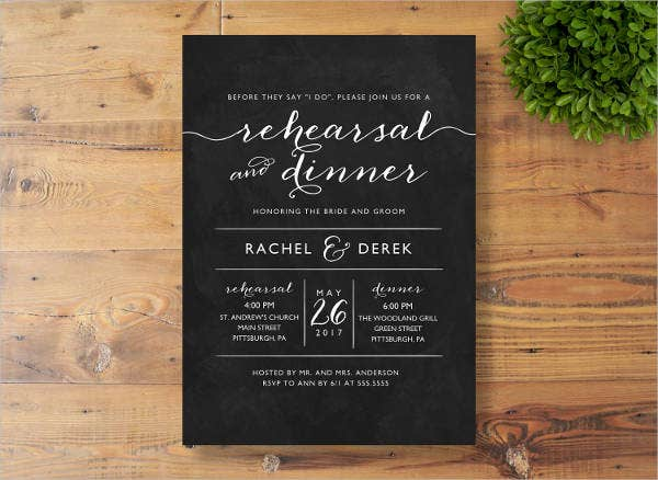 formal wedding dinner invitation